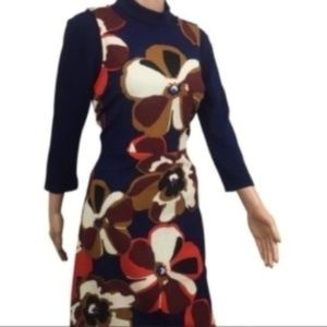 ECI Navy Floral Casual Dress